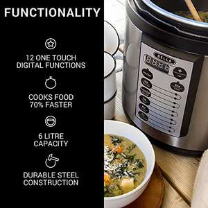 £20 off Bella 6L Digital Electric Pressure Cooker (1000W) £37.99 - Sold by Beauty, Kitchen and Home Outlet and Fulfilled by Amazon Prime deal / lightning deal