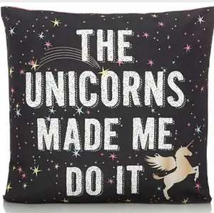 Asda Unicorn cushion was £5 ,now half price ,large size in store