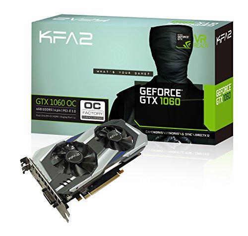 KFA2 Geforce GTX 1060 6GB OC GeForce Graphic Card 6144 MB - £229.99 @ Amazon