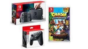 Nintendo Switch Grey with Crash Bandicoot N. Sane Trilogy + Pro Controller £319.99 @ Amazon (Prime Day / lightning Deal)