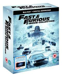Fast & Furious 8 Film Collection Blu Ray Boxset - £20 @ Amazon (Prime Day / Lightning Deal)