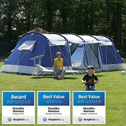 Skandika Montana Family 8 person Tunnel Tent - Amazon Lightning Deal - £220.53
