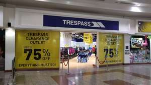Trespass Pop-up clearance shop at Salford Quays - up to 75% off all items