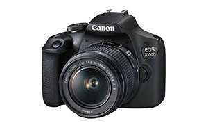 Canon EOS 2000D DSLR Camera and EF-S 18-55 mm f/3.5-5.6 IS II Lens, Black In Stock on July 27 - £299.99 @ Amazon (Prime Day Deal)