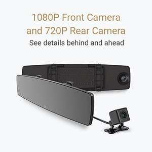 YI Mirror Dash Cam 1080P Dual-Recording and Wi-Fi In Car Camera 4.3 £39.99 Sold by YI Official Store UK and Fulfilled by Amazon. (Prime Day Deal)