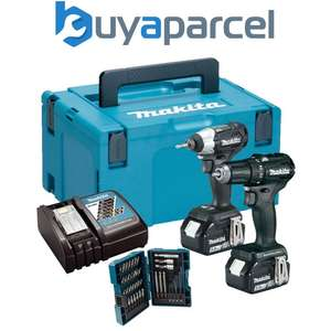 Makita Black Brushless Twin Kit 18v 2x5AH £203.99  buyaparcel-store ebay