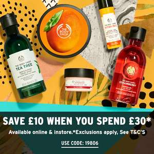 £10 off £30 Spend on Beauty Products with Code @ The Body Shop