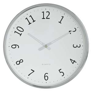 John Lewis Shine Wall Clock, Silver was £15 now £4 + £3.50 del (free c&c if order over £30)