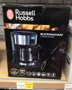 Russell Hobbs Buckingham Stainless Steel Coffee Maker - RRP £40 Reduced to £11.25 in Tesco instore (Purley)