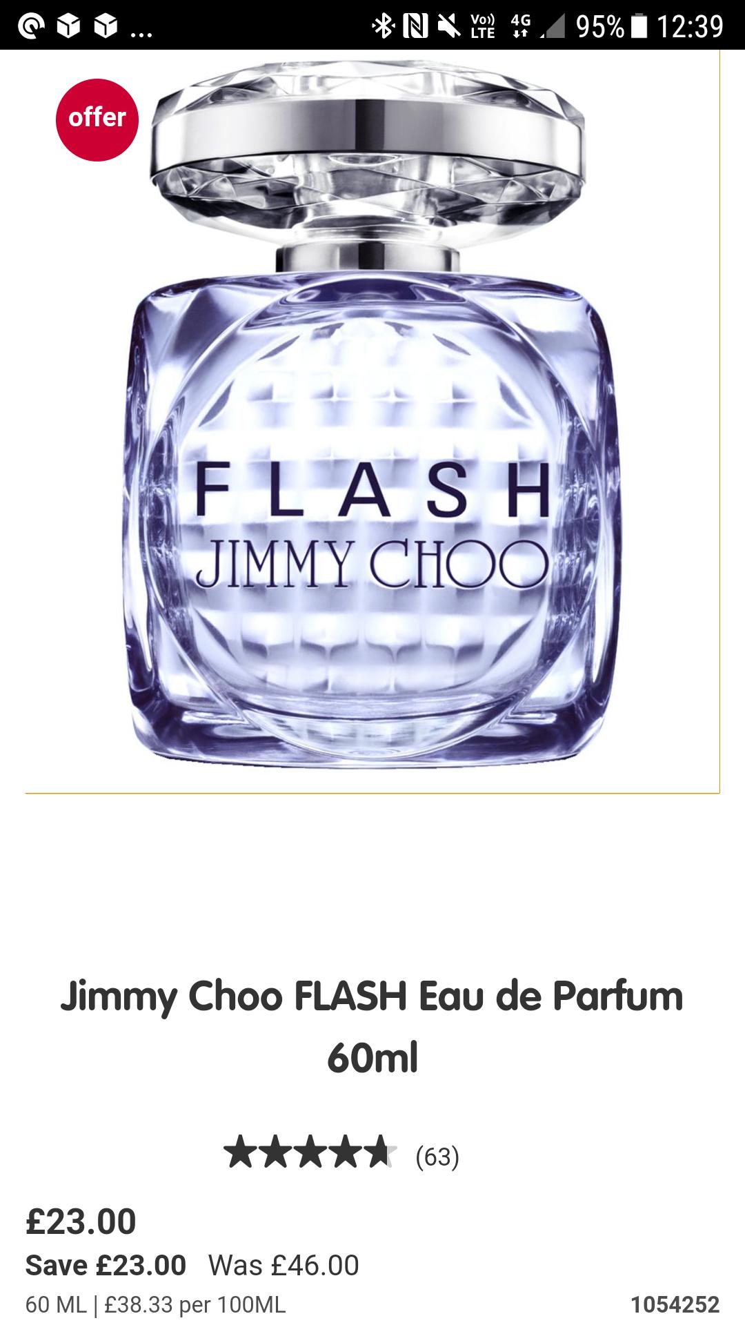 Jimmy Choo Flash Perfume 60ml £23 @ Boots