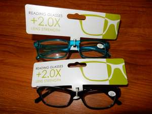 2 Pairs of Reading Glasses at Poundworld £0.50