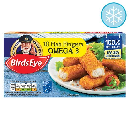 Birds Eye 10 Fish Fingers Omega3 280G only £1 at Tesco