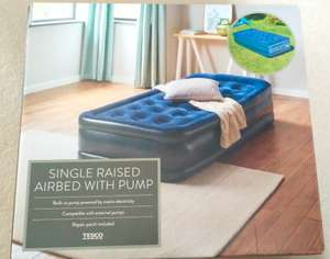 Tesco Single / Double Raised Airbed with Built-in Pump £23 - In Store