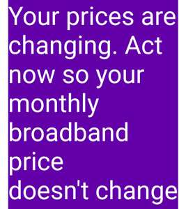 BT PRICE INCREASE - Opportunity  to switch without penalty