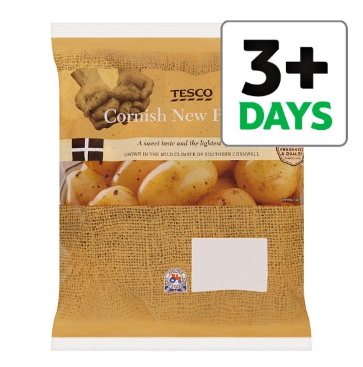 Tesco Seasonal Cornish New Potatoes 750G 49p