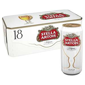 Stella Artois Lager, 18 x 440 ml £12 @ Amazon Pantry (counts towards £10 credit and free delivery promos)