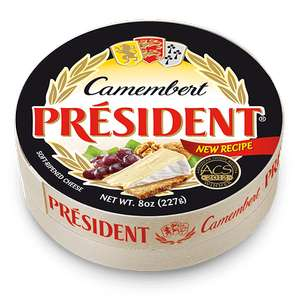 President Camembert Cheese 250g 89p @ Heron foods