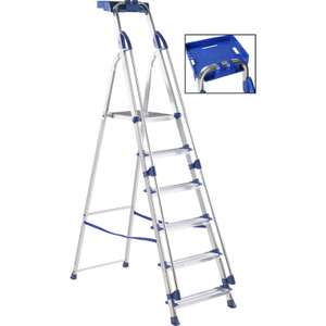 Werner Work Station Step Ladder 6 Tread SWH 3m £66.79 Free Delivery as over a £10 Spend @ Toolstation