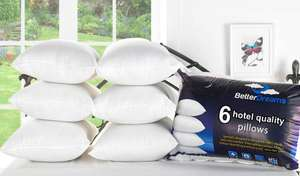 Six Non-Allergic Fibre-fitted pillows @ Groupon (74% off) only £13!!! / £14.99 delivered