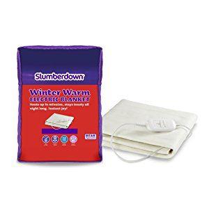 Slumberdown Winter Warm Electric Blanket, Cotton, White, King - £9.40 (Prime) £13.89 (Non Prime) @ Amazon