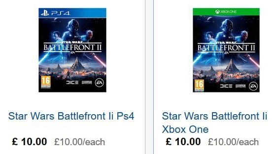 Star Wars Battlefront II [PS4/XBox] £10.00 @ Tesco