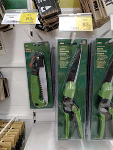 Various hand garden tools 83p instore at Asda Hatfield - Folding Pruning Saw