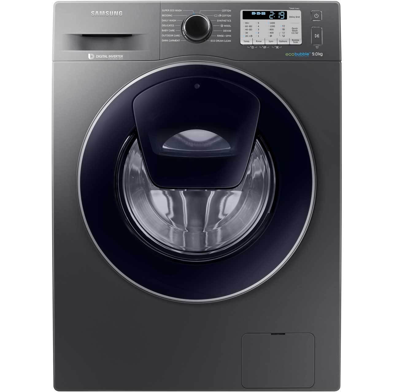 Samsung WW90K5413UX ecobubble AddWash A+++ 9Kg 1400 RPM Washing £359.20 at AO on eBay
