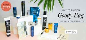 Blow are doing a free goodie bag of hair and beauty products worth £100 for FREE when you spend £70 online or In store