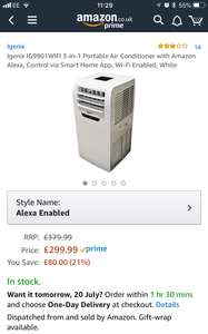Alexa (!) controlled air conditioner, not from Viking, and under £300 / £299.99 @ Amazon