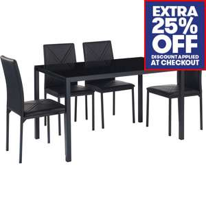 LOADS Of Furniture With An Extra 25% Off At Checkout   Denver Glass Dining  Table