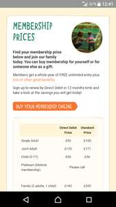 Chester zoo annual pass ( 2 adults,  1 child) - £185