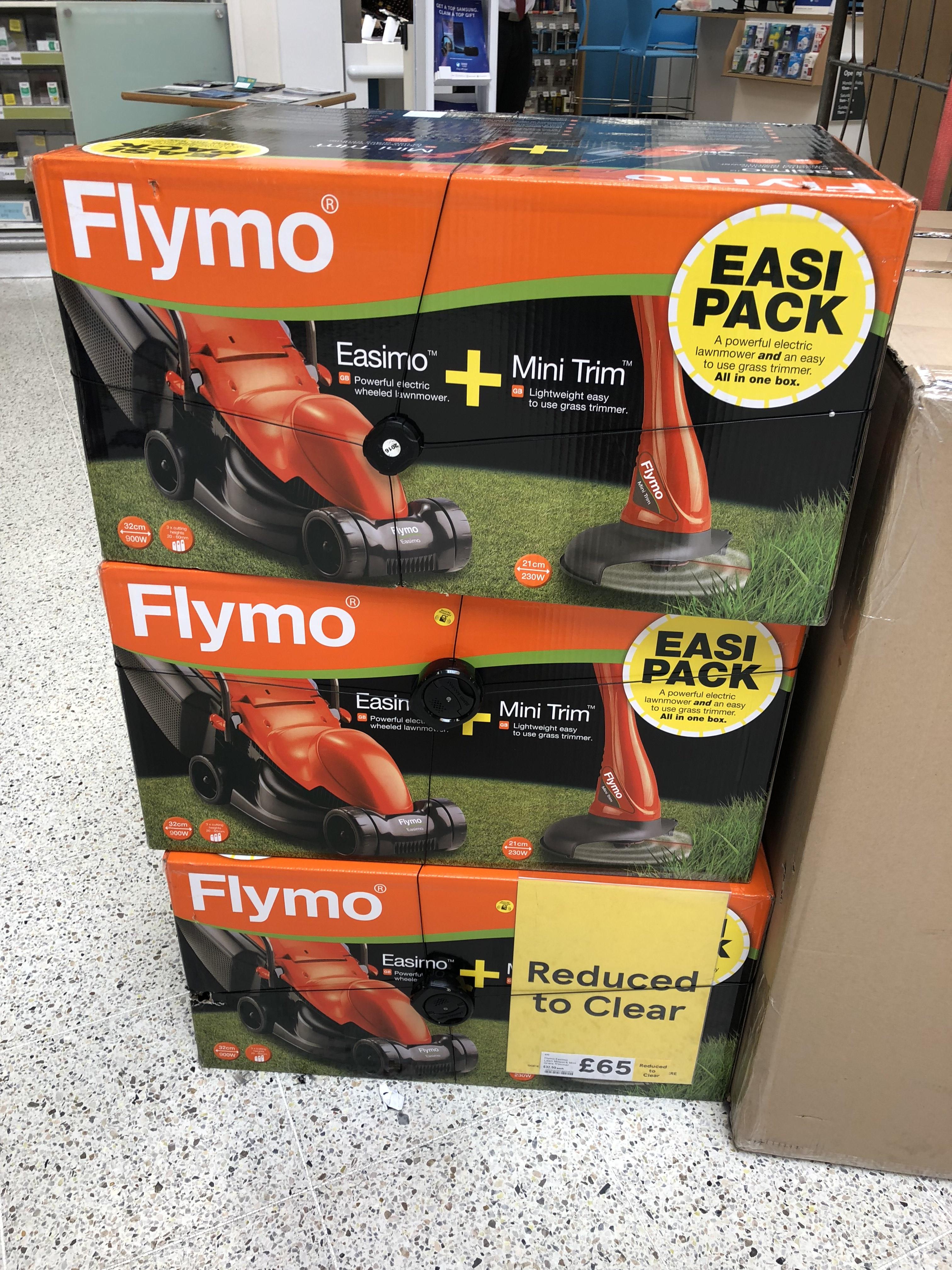 Flymo Easimo + Mini Trim £65 at Tesco