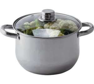 HOME 20cm Stainless Steel Casserole Pot £5.99 (was £11.49) @ Argos