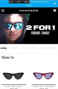 Buy 1 get 1 free at Hawkers sunglasses