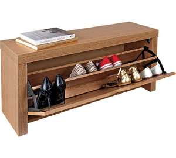 HOME Cuban Shoe Storage Cabinet - Oak Effect at £31.49 @ Argos (free C&C)