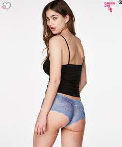 3 pairs of knickers for £6 + Free delivery @ Hunkemoller