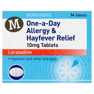 Morrisons One-a-Day Hay Fever Relief Tablets 14 per pack - £1