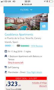 Loads of holidays to canaries £1300 for a family of four mid August for a week from the north west at tui