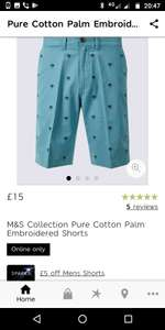 £5 off Shorts M&S for  Sparks card holders