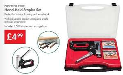 Hand-Held Stapler Set £4.99 - LIDL (Powerfix Profi) - Inc 1,500 Staples & Storage Box