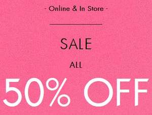 Guess- all sale at least 50% off- starting £4.50