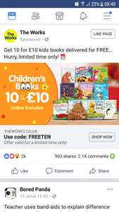10 Kids Books for only £10 at The Works (online exclusive) + free delivery