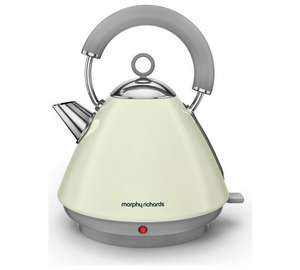 Morphy Richards Accent Pyramid Kettle – Cream & 2 yr Guarantee now £26.49 @ Argos C+C ( Amazon £33.77 )