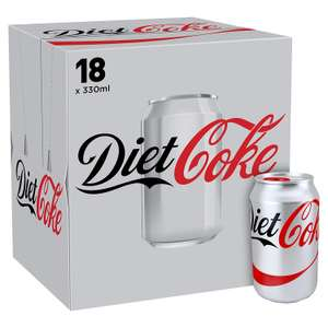 Coca Cola Diet or Zero 18x330ml for £5 at One Stop Shops