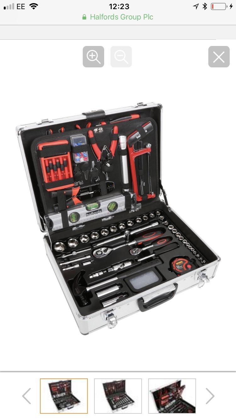 Halfords 114 Piece Aluminium Tool Set - £110