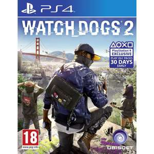Watch Dogs 2 *NEW* [PS4] £13.50 including FREE delivery @ Tesco eBay Outlet