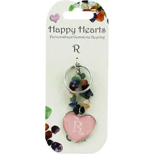 Happy Hearts Personalised Gemstone Keyring £1.00 (RRP £3.99) @ The Works - Free C+C