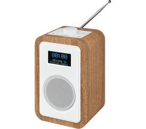 JVC RA-D51 DAB/FM Clock Radio - Wood & White £34.97 @ Currys PC World