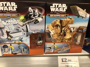 Star Wars micro machines play set £2.99 in home bargains