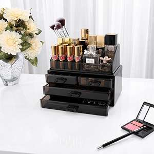Black  Makeup Organiser With 4 Drawers now £4.99 delivered / £9.48 (non prime) at  Songmics via Amazon